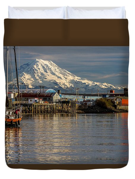 Thea Foss Waterway And Rainier 1 Duvet Cover