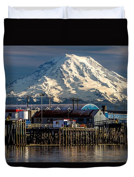Thea Foss Waterway And Rainier 2 Duvet Cover