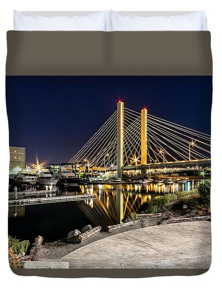Thea's Landing And The 509 Bridge Duvet Cover
