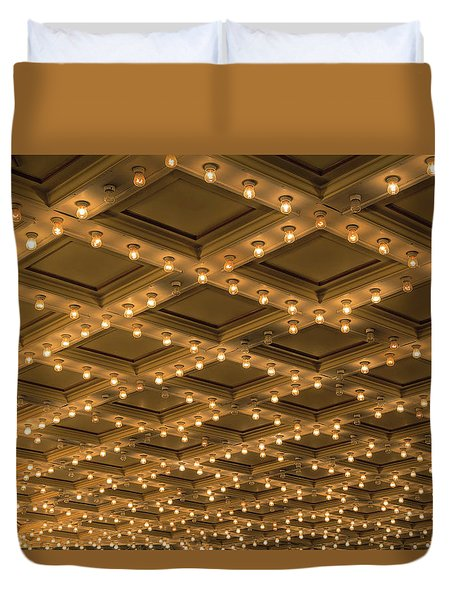 Theater Ceiling Marquee Lights Duvet Cover by David Gn