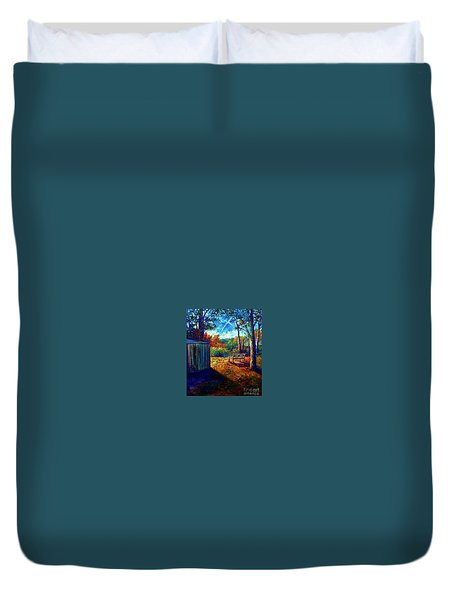 Theater In The Sky Duvet Cover