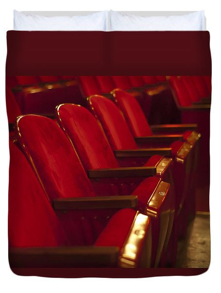Theater Seating Duvet Cover by Carolyn Marshall