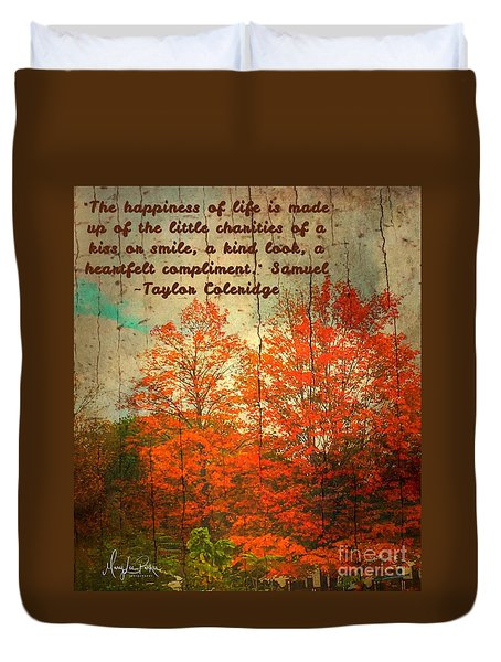 The Happiness Of Life By Taylor Coleridge Duvet Cover