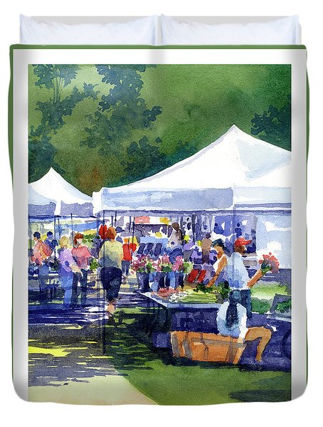 Theinsville Farmers Market Duvet Cover