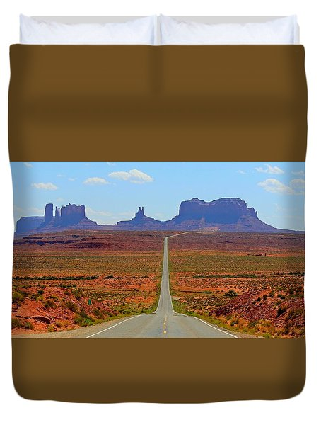 Thelma And Louise Duvet Cover by Elizabeth Sullivan