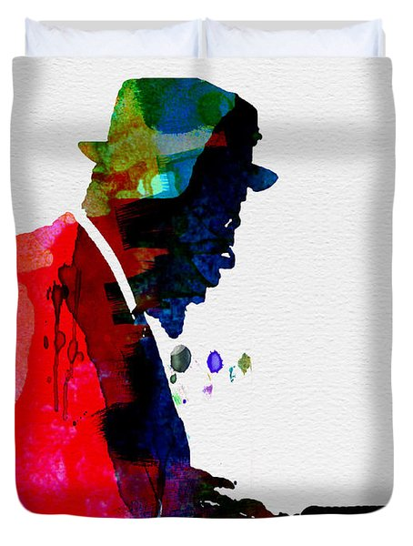 Thelonious Watercolor Duvet Cover