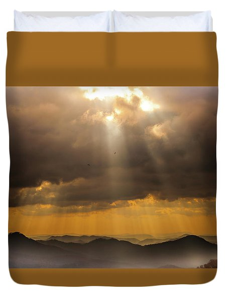 Duvet Cover featuring the photograph Then Sings My Soul by Karen Wiles