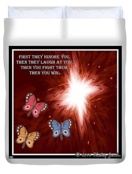 Then You Win Duvet Cover by Holley Jacobs