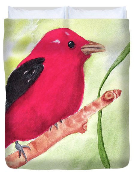 Theodore Tanager Duvet Cover