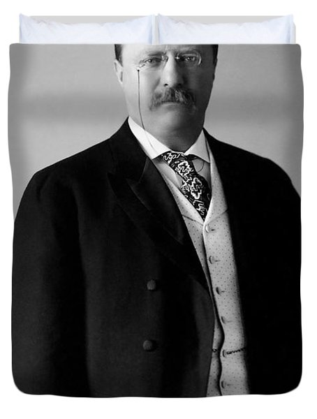 Theodore Roosevelt - 26th President Of United States Of America Duvet Cover