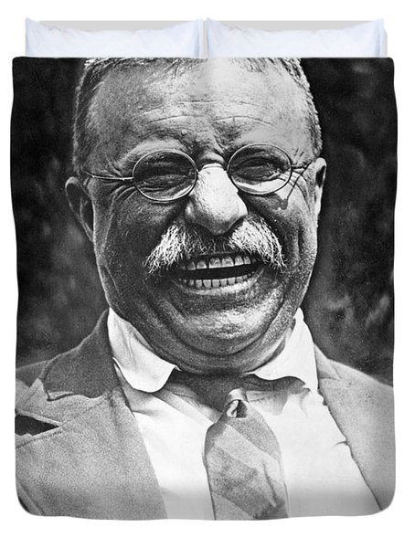 Theodore Roosevelt Laughing Duvet Cover