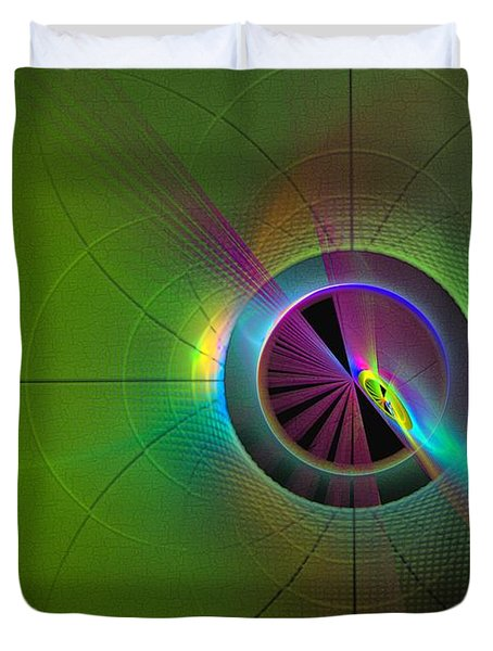 Theory Of Green - Abstract Art Duvet Cover