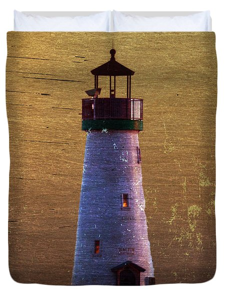 There Is A Lighthouse Duvet Cover by B Wayne Mullins