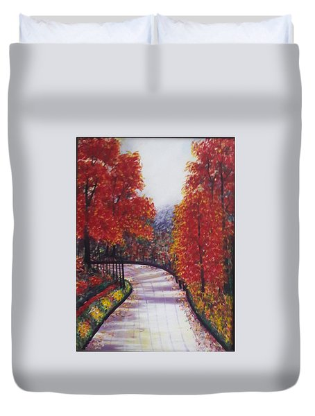 There Is Always A Bright Road Ahead Duvet Cover by Usha Rai