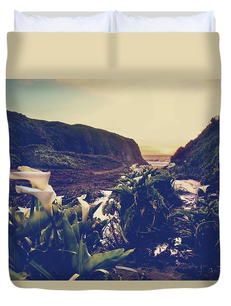 There Is Harmony Duvet Cover by Laurie Search