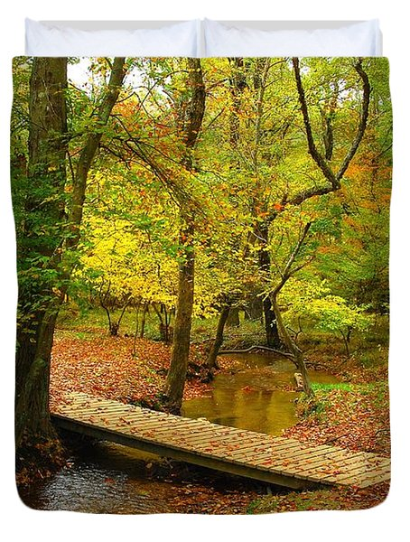There Is Peace - Allaire State Park Duvet Cover
