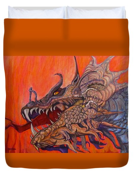 There Once Were Dragons Duvet Cover