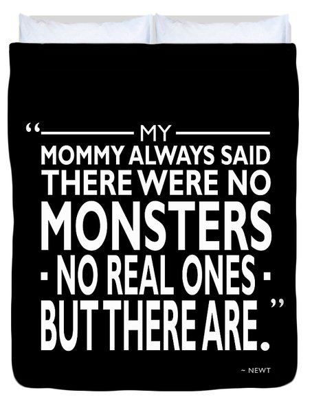 There Were No Monsters Duvet Cover by Mark Rogan