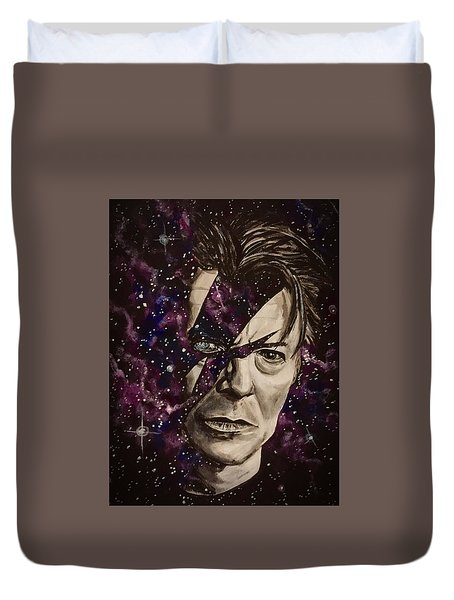 There's A Starman Waiting In The Sky Duvet Cover