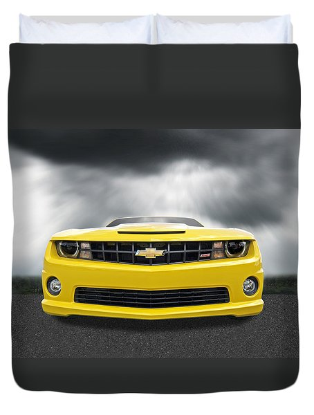 There's A Storm Coming - Camaro Ss Duvet Cover