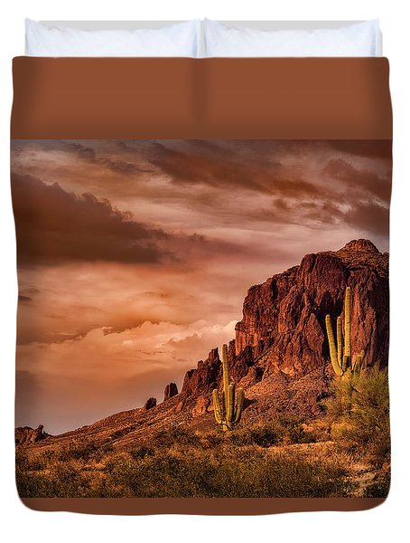 Duvet Cover featuring the photograph There's Gold In Them Hills  by Saija Lehtonen