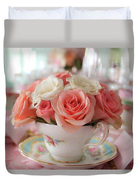 Teacup Roses Duvet Cover
