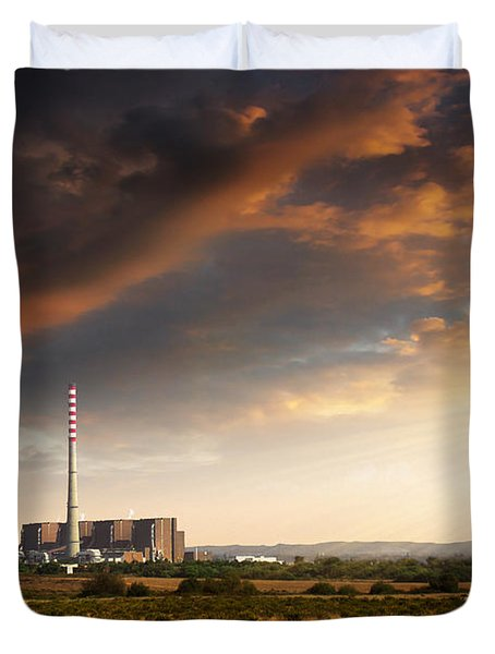 Thermoelectrical Plant Duvet Cover by Carlos Caetano
