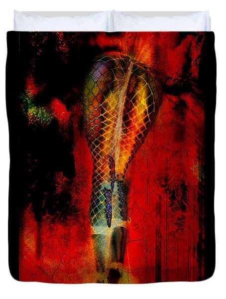 Thermonuclear Hosiery Duvet Cover by Greg Sharpe