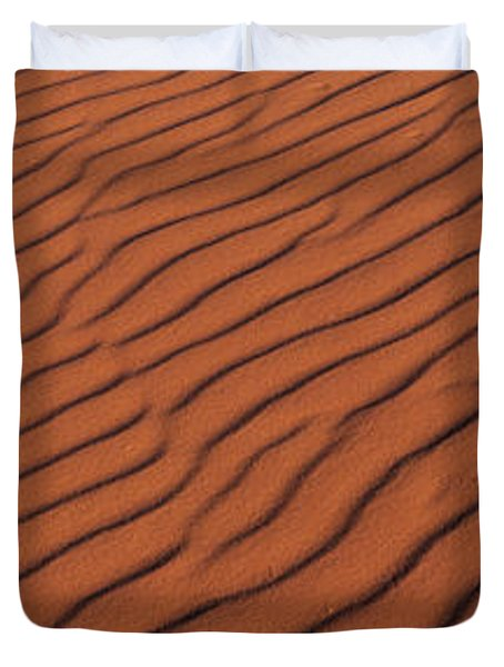 These Are The Pink Sand Dunes In Coral Duvet Cover
