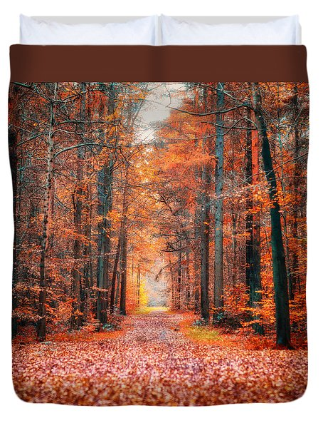 Duvet Cover featuring the photograph Thetford Forest by James Billings