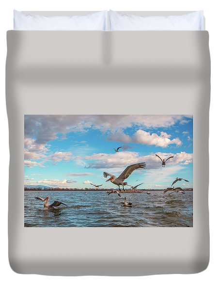 They Are Coming.... Duvet Cover