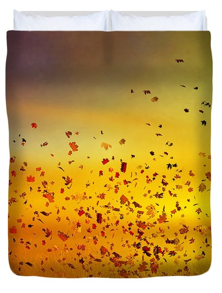 They Call Me Fall Duvet Cover by Mary Hood