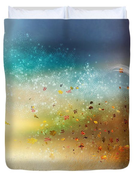 They Call Me Winter Duvet Cover by Mary Hood
