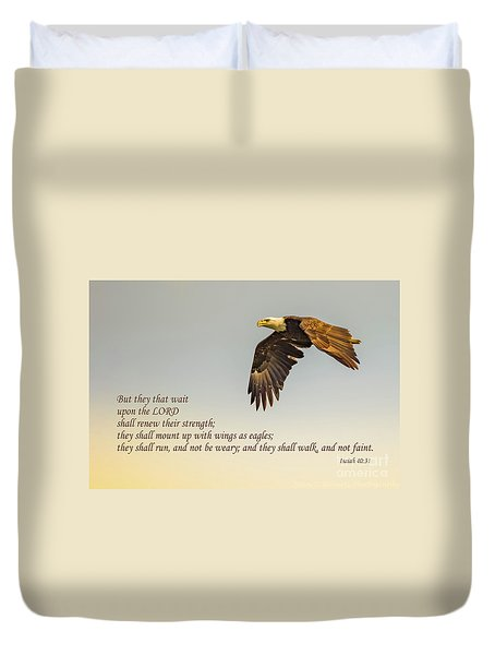 They That Wait Upon The Lord Duvet Cover