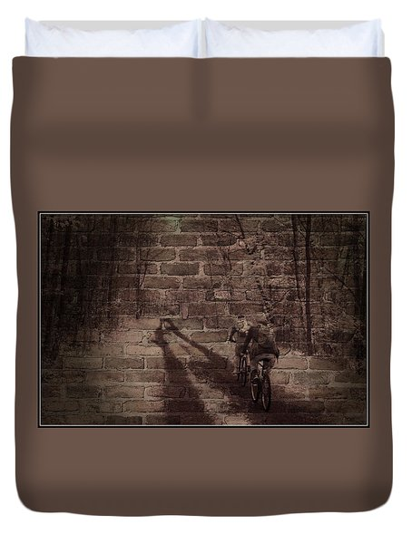 Hitting The Wall Duvet Cover