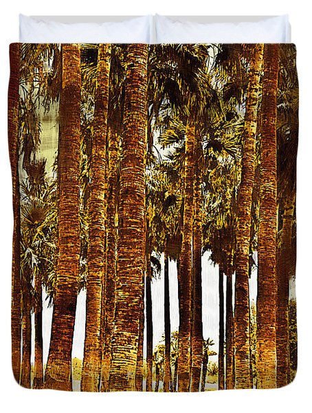 Thick Palm Trees Duvet Cover