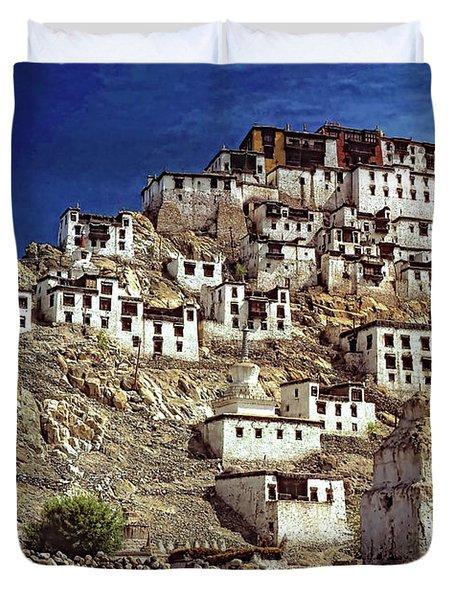Thiksey Monastery Duvet Cover by Steve Harrington