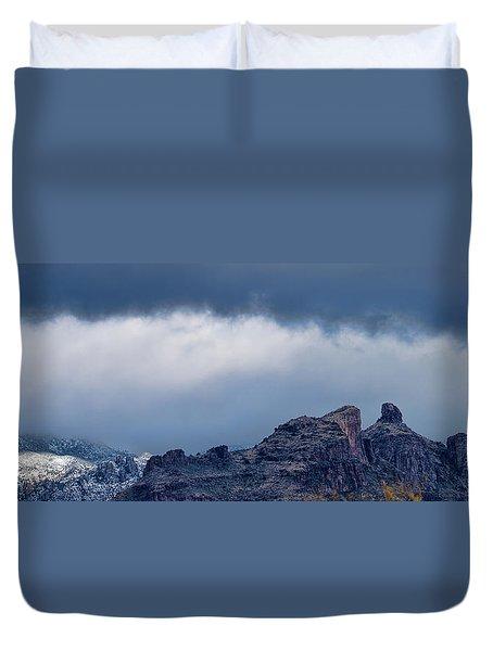 Thimble Peak Snow Duvet Cover