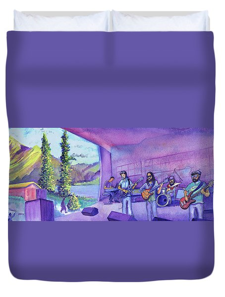 Duvet Cover featuring the painting Thin Air At Dillon Amphitheater by David Sockrider