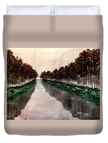 Things Appear Larger Duvet Cover by Lisa Aerts