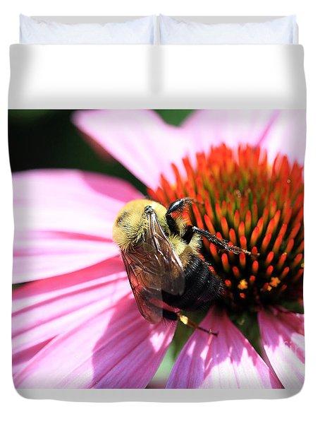 Think Bees Duvet Cover by Paula Guttilla