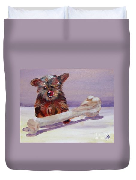 Duvet Cover featuring the painting Think Big by Saundra Johnson