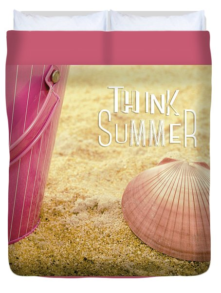 Think Summer Pink Duvet Cover