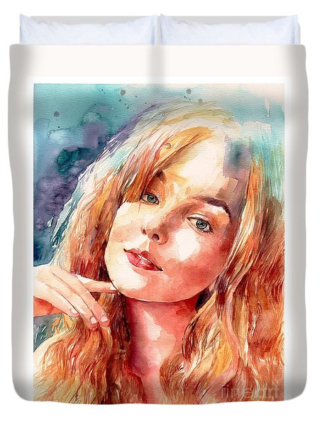 Thinking About You Duvet Cover