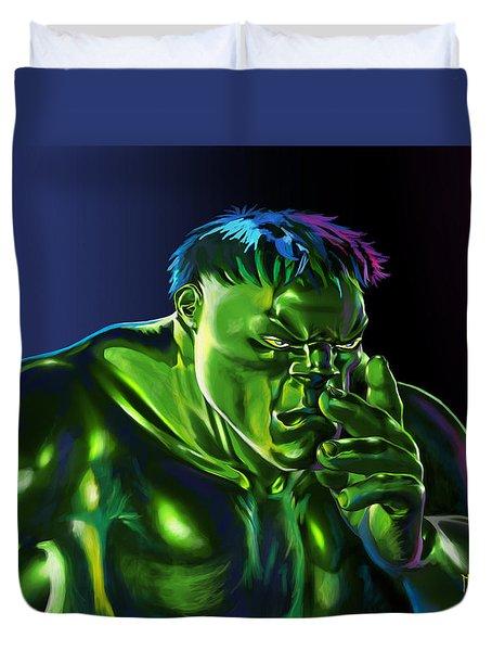 Thinking Hulk Duvet Cover