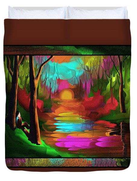 Thinking In Color Duvet Cover by Steven Lebron Langston