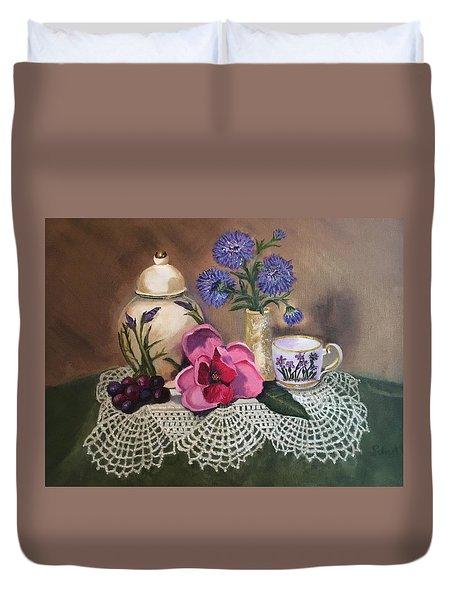Thinking Of Tea  Duvet Cover