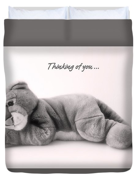 Duvet Cover featuring the photograph Thinking Of You by Gina Dsgn