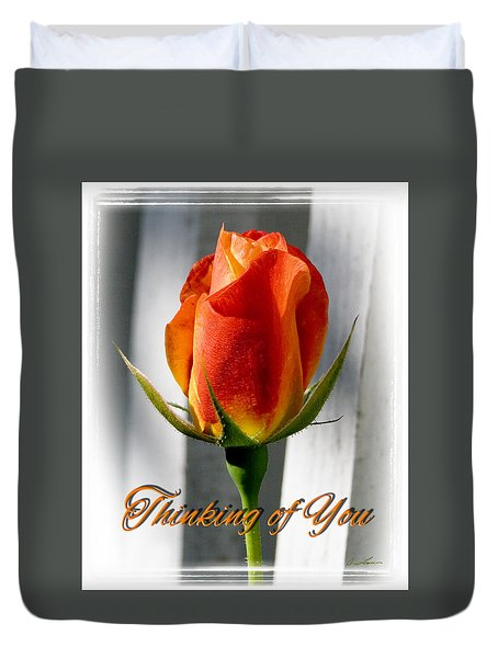 Thinking Of You, Rose Duvet Cover