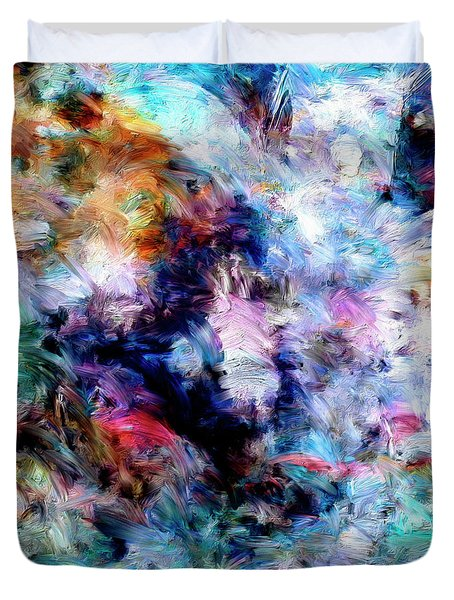 Duvet Cover featuring the painting Third Bardo by Dominic Piperata